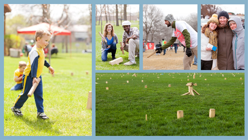 kubb photo collage